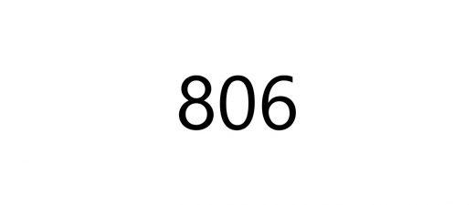 問題 数字 806