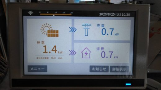 太陽光 発電 モニター 消費電力 売電電力